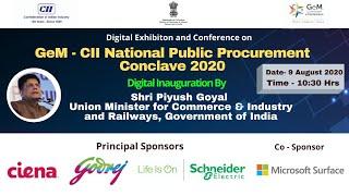 DAY 2: GeM- CII National Public Procurement Conclave  2020