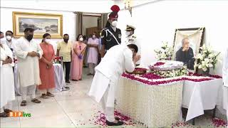 Shri JP Nadda pays homage to former President of India and Bharat Ratna Shri Pranab Mukherjee.