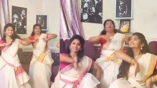 Sandy family Onam dance | Onam 2020 celebration | Cynthia Natalia