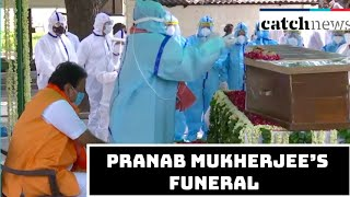 Pranab Mukherjee's Funeral Procession Takes Place With Full Military Honours In Delhi | Catch News