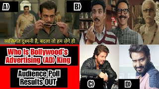 Salman Khan Is The Advertising King Of Bollywood, Akshay Kumar Ranks Second, Audience Poll Results