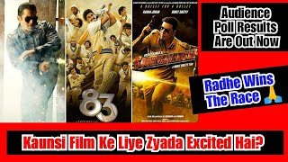 Which Film You Are Most Excited About, Radhe, Sooryavanshi Or 83? Audience Poll Result By A Website
