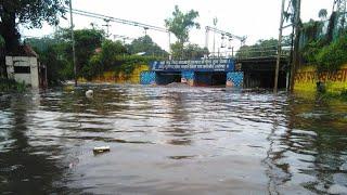 खंडवा तीन पुलिया: भारी बरसात के बाद इस तरह पानी ने आगोश में लिया पुलिया को | Teen Puliya Khandwa
