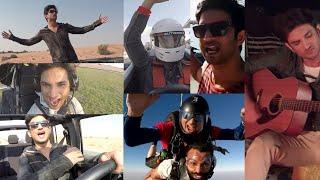 Sushant Singh Rajput Amazing Dubai Adventure SkyDive, Formula Racing, Shark Jet Ski