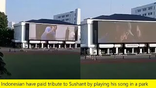 Sushant Singh Indonesian Fans Paid A Musical Tribute, Played MS Dhoni Movie Song On Big Screen