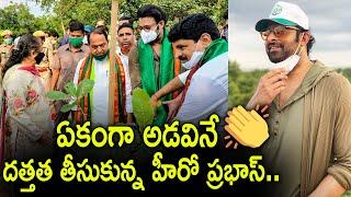 ఏకంగా అడవినే దత్తత తీసుకున్న హీరో ప్రభాస్..Hero Prabhas adopts khajipalli urban forest near dundigal