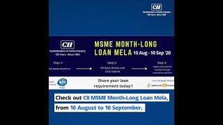 CII MSME Loan Mela Campaign