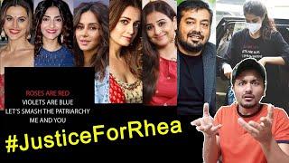 Arrest Ke Baad Rhea Ke Support Me Aaye Bollywood Ke Kaun Kaun Celebs, #JusticeForRhea