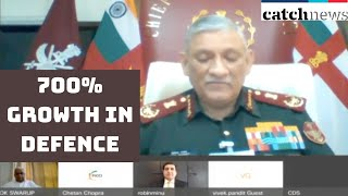 700% Growth In Defence Exports From 2016-17 to 2018-19: CDS | Catch News