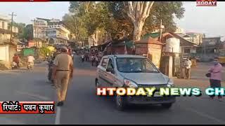 11 sep 7  डीएसपी और पुलिस कर्मचारियों ने वाहन चालकों को मास्क लगााने के लिए किया जागरूक