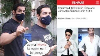 John Abraham At Bandra for his Movie work with Shah Rukh khan