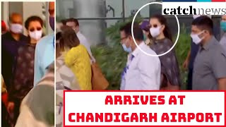 Kangana Ranaut Arrives At Chandigarh Airport, An Route To Her Hometown | Catch News