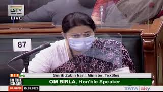 Smt. Smriti Zubin Irani presents 'Diet Chart for Pregnant Women' in Lok Sabha