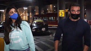 Dubai Se Laut Aaye Daisy Shah Aur Sohail Khan, Spotted At Airport