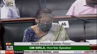 Smt. Nirmala Sitharaman's reply on the Banking Regulation (Amendment) Bill, 2020 in LS: 16.09.2020