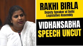 Deputy Speaker Rakhi Birla FULL SPEECH IN DELHI VIDHANSABHA