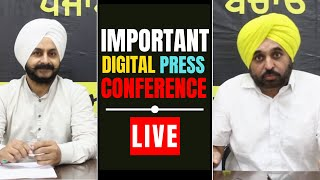 AAP Lok Sabha MP Bhagwant Mann & MLA Jarnail Singh addressing an Important Press Conference