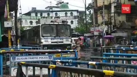 बीजेपी की रैली को देखते हुए हाशमी चौक पर सुरक्षा चाक-चौबंद