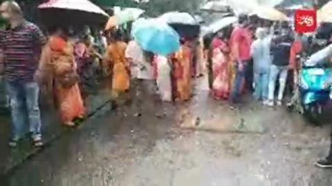 भारतीय जनता पार्टी की विरोध रैली निकलने को तैयार