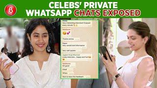 Deepika Padukone To Janhvi Kapoor - Celebs PRIVATE WhatsApp Chats EXPOSED