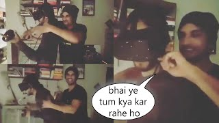 Sushant Singh Full Masti With His Friend While Experiencing OCULUS VR