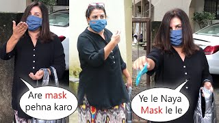 Farah Khan Kind Gesture Towards Media Person At Juhu Mumbai