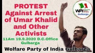 Umar Khalid Aur Activists Ki Giraftari Ke Khilaaf Protest Ko Kamiyab Banane Ki Appeal