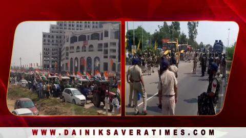 किसानों की Tractor Rally को रोकने के लिए Haryana Border पर भारी पुलिस फोर्स तैनात