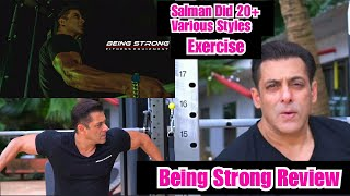 Salman Khan Being Strong Fitness Equipment Video Review, Bhaijaan Did 20 Plus Various Exercises