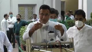 AICC Press Briefing By AK Antony, Ahmed Patel, KC Venugopal and Randeep Surjewala at AICC HQ