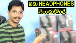 Sound One V11 Wireless Bluetooth Headphones Unboxing 5x Giveaway Telugu