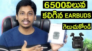 Blaupunkt BTW Pro+ Truly Wireless Earphones with Dual Mic with ENC Unboxing And Giveaway Telugu