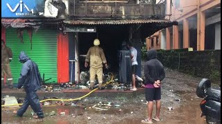 #Fire | Medical store gutted in fire at Sankhlim