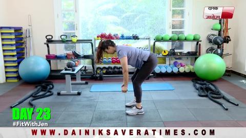"""Fit With Jen"" || DAY 23 || 28 DAYS Fitness Challenge || @8AM Daily on Dainik Savera TV"