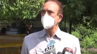 Leader of Opposition Ghulam Nabi Azad addresses media on the Suspension of 8 MPs