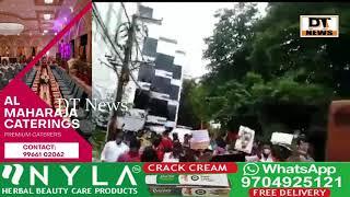 #HyderabadProtest  Bajarangdal members have flash protested before the #AndhraPradesh CM'S RESEDENCE