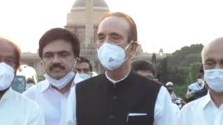 Farm Bills: Leader of Opposition Ghulam Nabi Azad addresses media after meeting with President