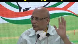 Abhishek Manu Singhvi addresses media on the Farm Bills