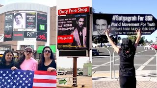 Sushant Singh Rajput California Fans Protesting On Road For The Justice