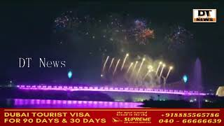 Spectacular Laser Show and Fireworks Display @ Inauguration Ceremony of #DurgamCheruvuCableBridge