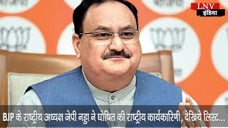 BJP के राष्ट्रीय अध्यक्ष जेपी नड्डा ने घोषित की राष्ट्रीय कार्यकारिणी, देखिये लिस्ट…