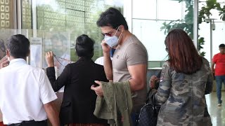Sonu Sood Spotted At Airport With His Wife Sonali Sood