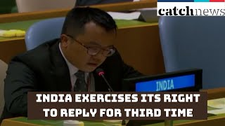 UNGA75: India Exercises Its Right To Reply For Third Time In Response To Pakistan | Catch News