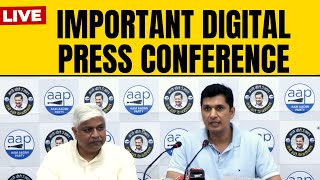 AAP Leader Saurabh Bhardwaj & Delhi Cabinet Minister Rajendra Pal Gautam addressing press conference