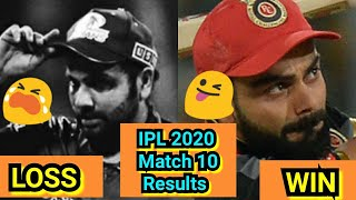 IPL 2020 Match 10 Results, MumbaiIndians Lost Match In SuperOver Against Royal Challengers Bangalore