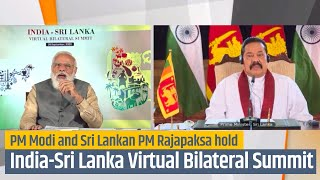 PM Modi and Sri Lankan PM Rajapaksa hold India-Sri Lanka Virtual Bilateral Summit | PMO