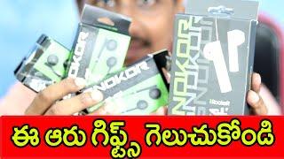 Infinix SNOKOR Bass Drops and Infinix irocker Stix Review 5x GIVEAWAY Telugu