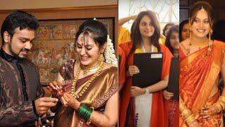 Shrutika rare Childhood photos, Wedding photos , Graduation photos , Valagappu Function Pictures