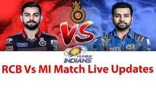 RCB Vs MI Match Live Updates | Royal Challengers Bangalore Vs Mumbai Indians Pre Match Analysis