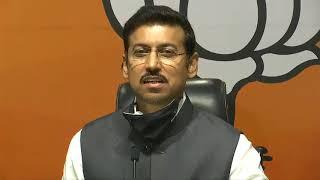 Press Conference by Shri Rajyavardhan Singh Rathore at BJP Head Office, New Delhi